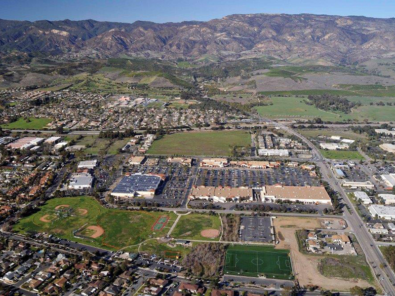 Areal View of Camino Real Marketplace